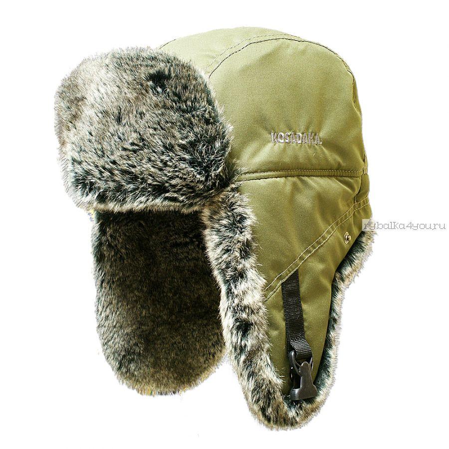 Шапка ушанка Kosadaka Arctic шиншилла хаки