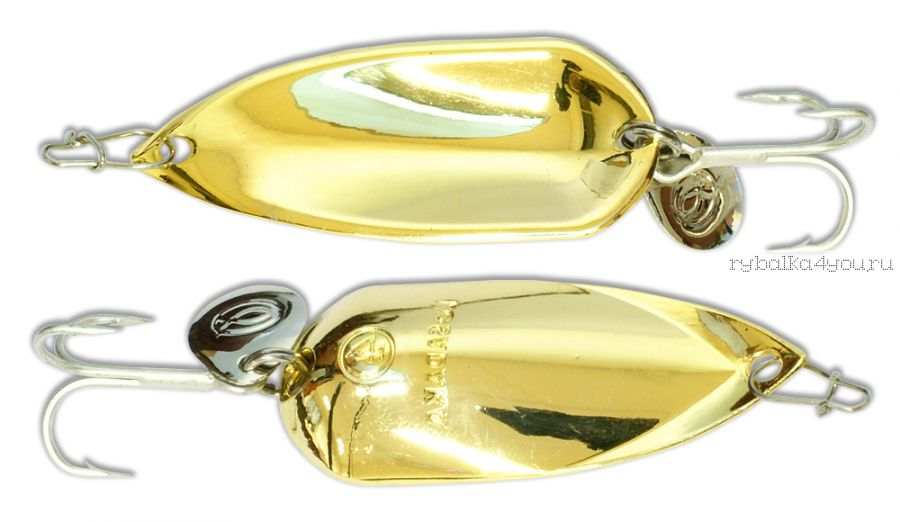 Блесна Kosadaka Grav Spoon 55мм /  16 грамм /  Gold