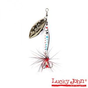 Блесна вращающаяся Lucky John TRIAN BLADE LONG  / 6гр / 003