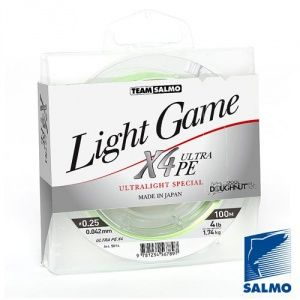 Леска плетеная Salmo Team Salmo Light Game Fine Green X4 (100м)