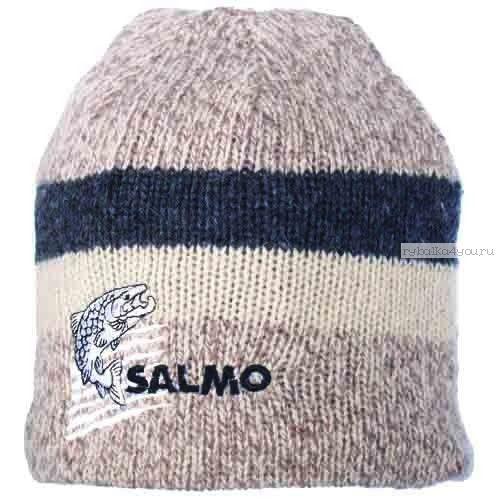 Шапка шерстяная вязаная SALMO с флисовой подкладкой
