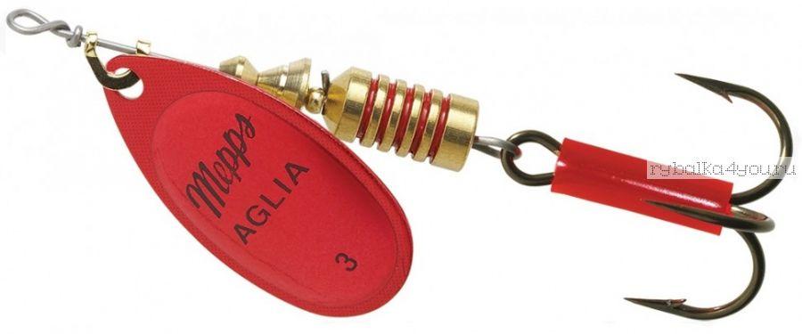 Блесна Mepps Aglia Platinum Rouge  №3 (6,5 гр)