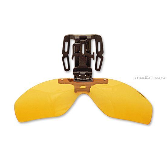 Накладка на бейсболку поляризационная Kosadaka Clip-on-Clap Yellow (Желтый) (KOSADAKA)