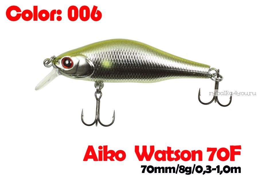 Воблер Aiko WATSON 70F 70 мм/ 8 гр / 0,3-1 м / цвет - 006