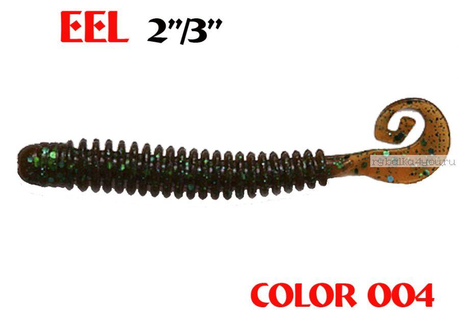 "Твистеры Aiko  Eel 3"" 75 мм / 2,2 гр / запах рыбы / цвет - 004 (упаковка 8 шт)"
