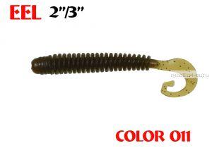 "Твистеры Aiko  Eel 3"" 75 мм / 2,2 гр / запах рыбы / цвет - 011 (упаковка 8 шт)"