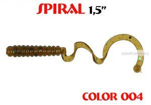 """Твистеры Aiko  Spiral 1.5"""" 25 мм / 0,62 гр / запах рыбы / цвет - 004 (упаковка 10 шт)"""