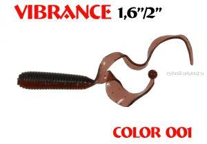 """Твистеры Aiko  Vibrance  1.6"""" 40 мм / 0,56 гр / запах рыбы / цвет - 001 (упаковка 12 шт)"""