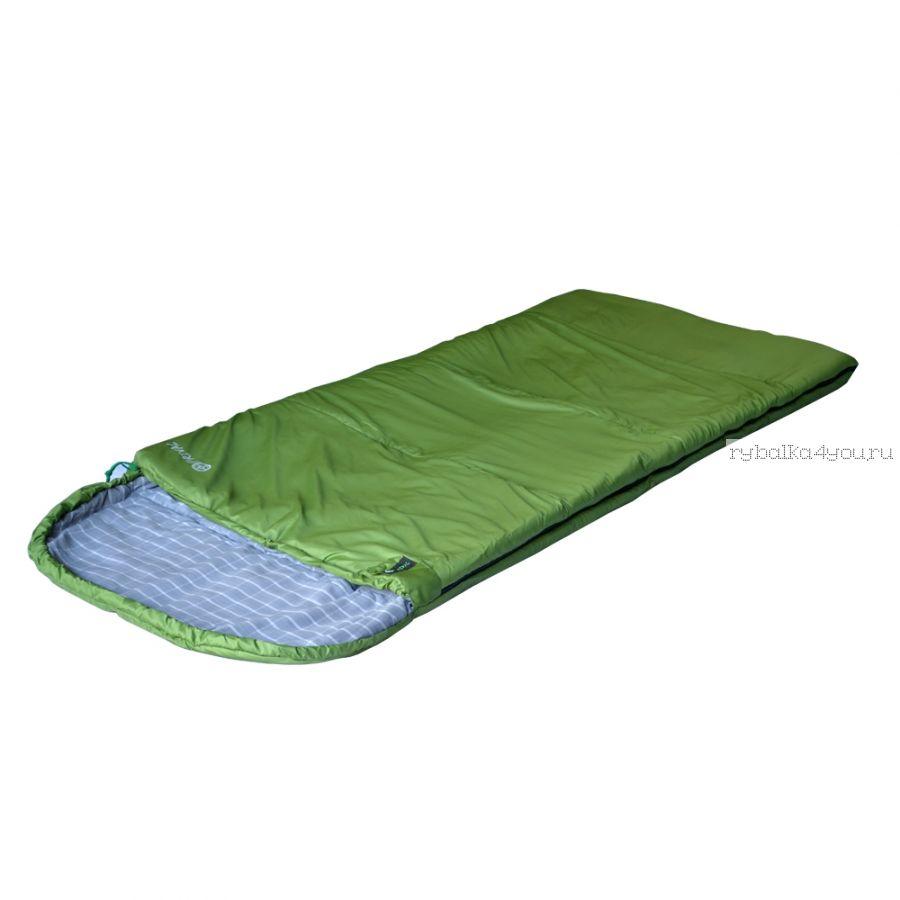Спальный мешок Prival ХАНТЕР 350  /одеяло с подголовником, размер 210х90, t -3 +15С