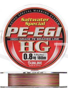 Плетеная леска SUNLINE PE EGI HG 180м