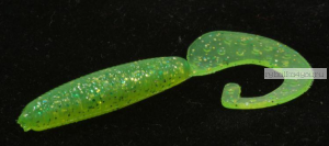 """Твистеры Aiko Curly Tail F 2"""" 50 мм / 1,2 гр / запах рыбы / цвет - 006-Lime  (упаковка 10 шт)"""