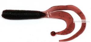 """Твистеры Aiko  Vibrance 2"""" 50 мм / 1 гр / запах рыбы / цвет - 001-Dark Blood(упаковка 10 шт)"""