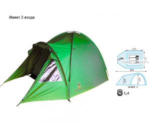 Палатка Reisen Acher 3 (woodland)