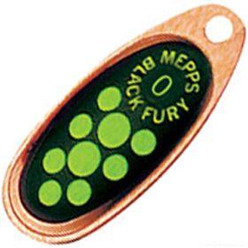 Купить Блесна Mepps Comet Black Fury цвет CU/CH / №0 2.5гр