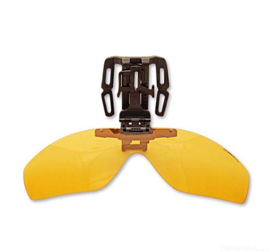 Купить Накладка на бейсболку поляризационная Kosadaka Clip-on-Clap Yellow (Желтый) (KOSADAKA)
