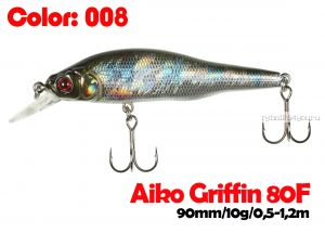 Воблер Aiko GRIFFIN 80F 80мм / 10гр / 0,5 - 1,2м  / плавающий / 008-цвет