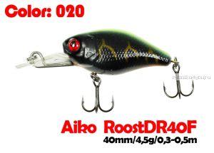 Воблер Aiko Roost cnk DR 40F  40 мм/ 4,5 гр / 0,3 - 0,5 м / цвет - 020