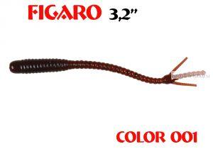 """Мягкая приманка Aiko  Figaro 3.2"""" 80мм / запах рыбы / цвет - 001  (упаковка 8шт)"""