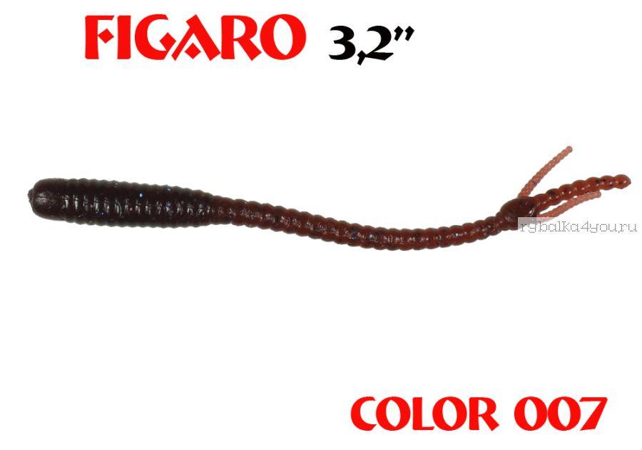 """Мягкая приманка Aiko  Figaro 3.2"""" 80мм / запах рыбы / цвет - 007  (упаковка 8шт)"""
