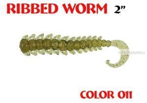 "Червь Aiko Ribbed Worm 3"" 75 мм / 1,3 гр / запах рыбы / цвет - 011 (упаковка 8 шт)"