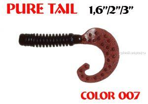 """Твистеры Aiko  Pure tail 3"""" 75 мм / 3,71 гр / запах рыбы / цвет - 007 (упаковка 8 шт)"""