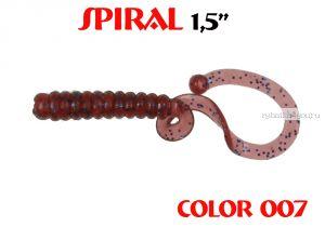 """Твистеры Aiko  Spiral 1.5"""" 25 мм / 0,62 гр / запах рыбы / цвет - 007 (упаковка 10 шт)"""