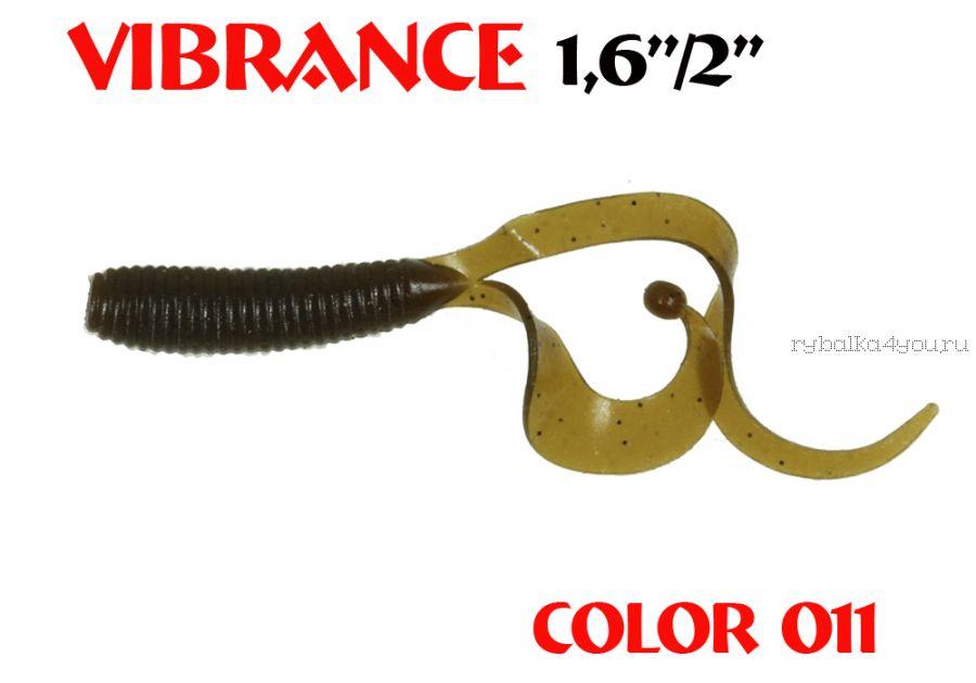 """Твистеры Aiko  Vibrance  1.6"""" 40 мм / 0,56 гр / запах рыбы / цвет - 011 (упаковка 12 шт)"""