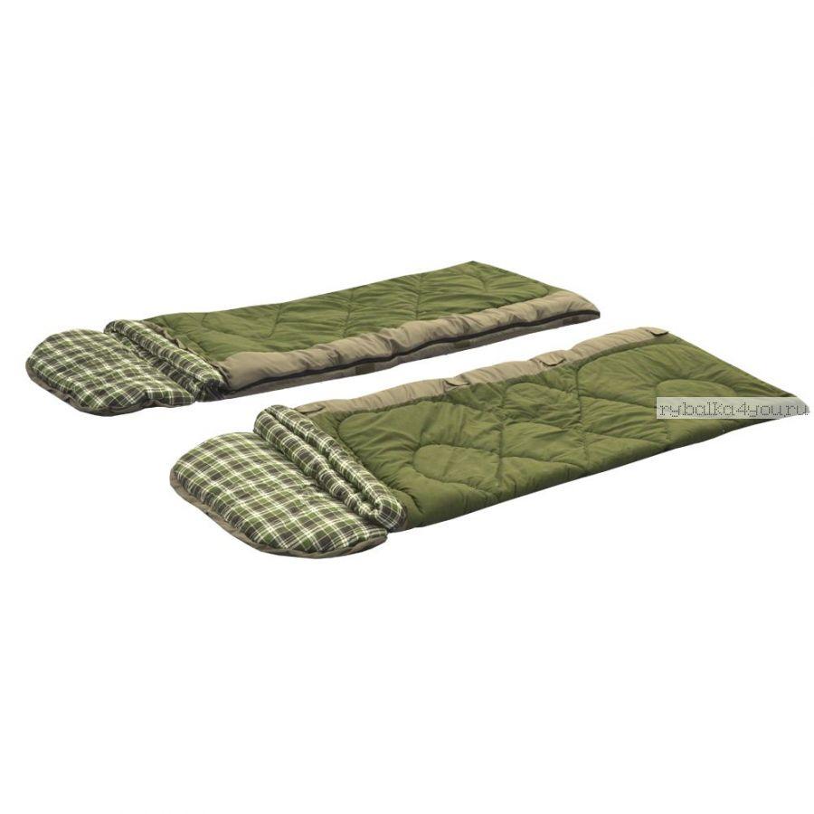 Спальный мешок Prival Double-Lux/одеяло с подголовником, размер 220х160, t -15 +10C