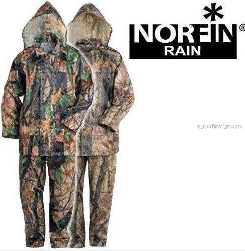Костюм демисезонный Norfin RAIN CAMO GREEN 508003