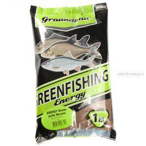 Прикормка Greenfishing ENERGY (Зима) белая рыба мотыль,1кг