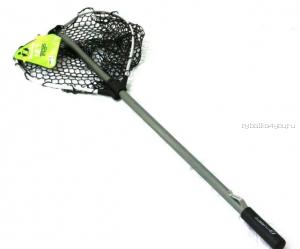 Подсачек Tsuribito NET TRAP Fold c черной силиконовой сеткой, складной, длина 150см