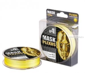Леска плетеная Akkoi Mask Plexus 125 м yellow