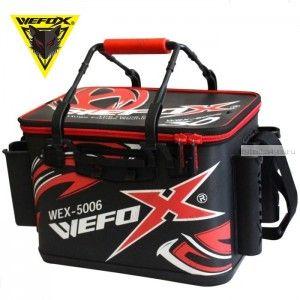Сумка рыболовная Wefox EVA WEX 5006 / 40см с держателями для удилища, черно - красная